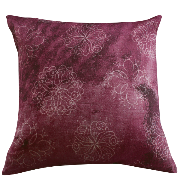 Flower Star Burgundy – cushion