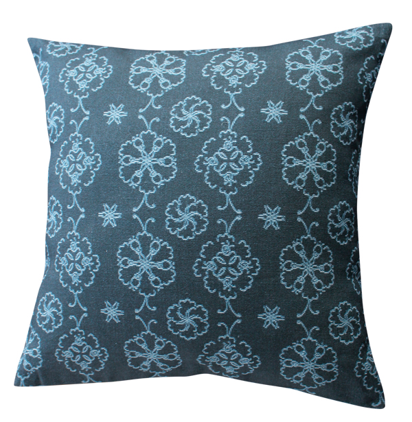 Lace Flower Blue – Cushion